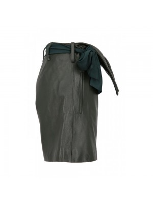 Amazing By Laura Olaru natural leather shorts