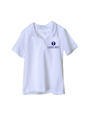 Polo t-shirt short sleeve with embroidered Lauder logo
