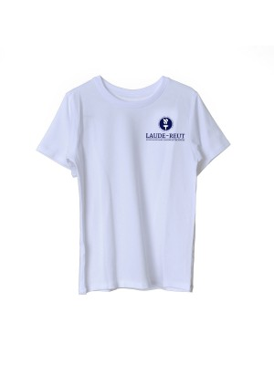 Short sleeve sports t-shirt with embroidered Lauder logo