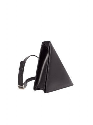 Genuine leather triangle bag by Laura Olaru