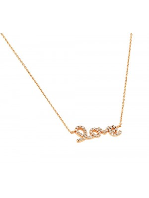 Clear Liberty Necklace made of Rose Gold Plated Sterling Silver