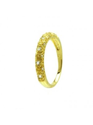 Clear Eternity Ring made of Gold Plated Sterling Silver