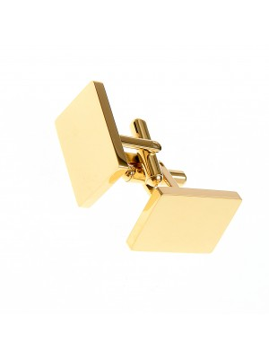 Gold plated stainless steel cufflinks