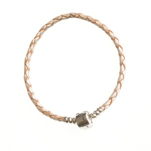Feelings bracelet made of pearl leather and sterling silver