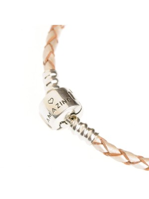 Feelings bracelet made of leather and sterling silver
