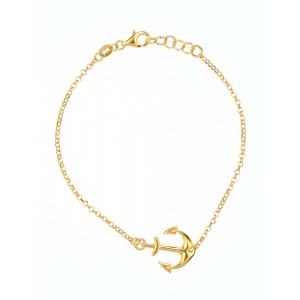 Plain Harmony Bracelet made of Gold Plated Sterling Silver