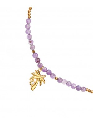 Purple Carousel Bracelet made of Gold Plated Sterling Silver