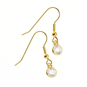 Clear Symphony Earring made of Gold Plated Sterling Silver