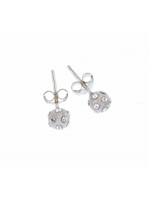 Clear  Earring made of Sterling Silver