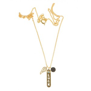 Carousel Necklace Gold Plated Sterling Silver