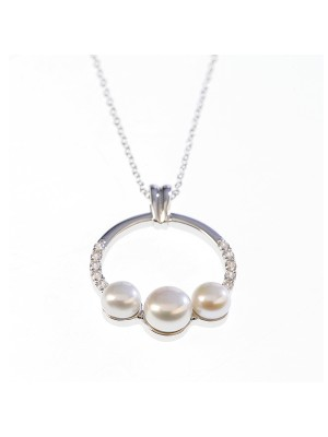 Pearl Neacklace Sterling Silver