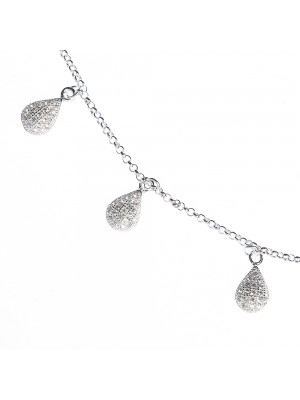 Sterling Silver Choker with cubic zirconia