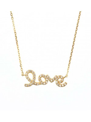 Clear Liberty Necklace made of Gold Plated Sterling Silver