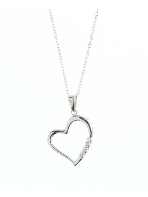 Clear Liberty Necklace made of Sterling Silver