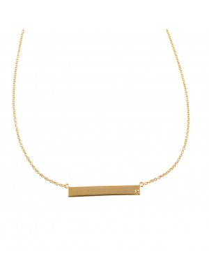 Clear Forever Diamonds Necklace made of Gold Plated Sterling Silver
