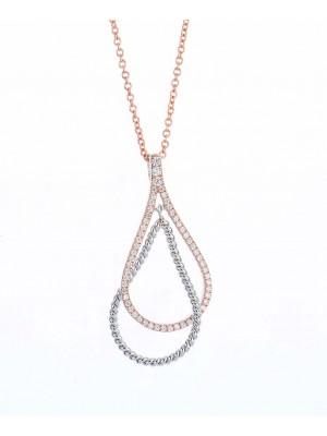 Clear Country Necklace made of Rose Gold Plated Sterling Silver