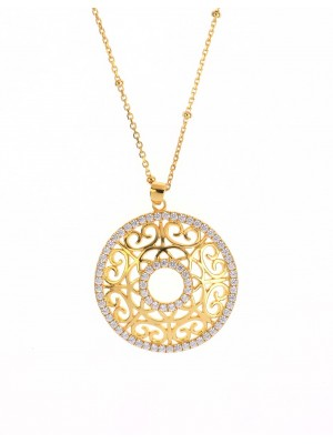 Clear Country Necklace made of Gold Plated Sterling Silver