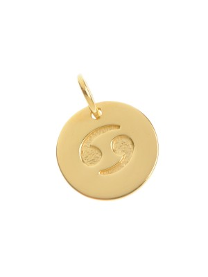 Cancer Pendant made of Gold Plated Sterling Silver