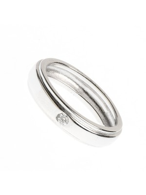 Clear Victory Ring made of Sterling Silver