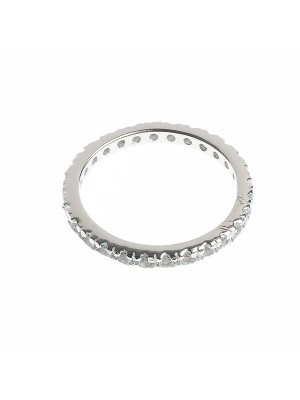 Blue Eternity Ring made of Sterling Silver