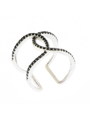 Black Victory Ring made of Sterling Silver